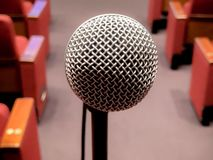 Microphone on a stand royalty free stock images