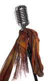 Microphone, stand and scarf royalty free stock images