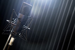 Microphone on stand Stock Photos