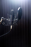 Microphone on stand Royalty Free Stock Photo