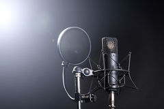 Microphone on stand Royalty Free Stock Photography