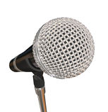 Microphone on Stand Stage Performance Singing Karaoke  Stock Photo