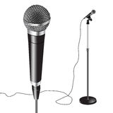 Microphone Stand vector Stock Image
