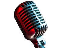 Microphone. Status of the vintage microphone Royalty Free Stock Image