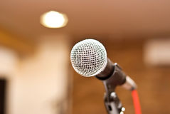Microphone in studio Royalty Free Stock Images