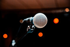 Microphone in studio Royalty Free Stock Photos