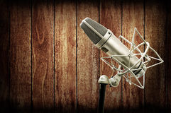 Microphone in studio Stock Image
