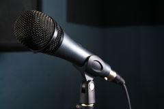 Microphone on studio Stock Photos