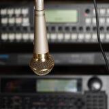 Microphone In Studio Royalty Free Stock Photo