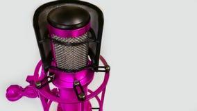 Microphone, studio d'enregistrement, radio, studio, Russie photographie stock libre de droits