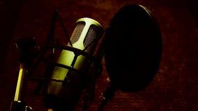 Microphone in studio stock footage