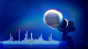 Microphone sur l'étape illustration de vecteur