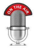Microphone sur l'air Image libre de droits