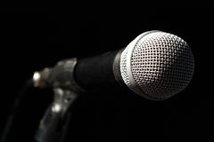 Microphone sur le bar Images stock