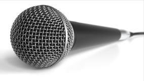 Microphone sur le fond blanc rendu 3d Images libres de droits