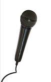Microphone sur un fond blanc avec un câble Image libre de droits