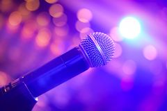Microphone Surrounded By Light Royalty Free Stock Photography