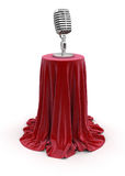 Microphone on Table (clipping path included) Stock Photos
