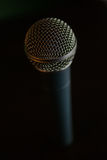 Microphone on table Stock Photo