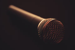 Microphone on table Royalty Free Stock Photography