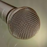 Microphone taken closeup. Stock Photography