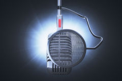 Microphone to record Stock Photo