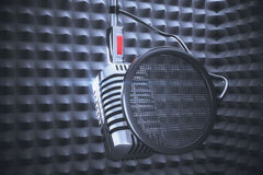 Microphone to record in studio record Stock Images