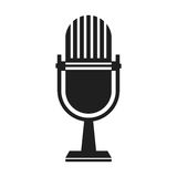 Microphone transmission information live Royalty Free Stock Photos