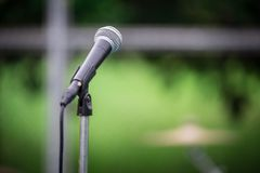 Microphone and Tripod royalty free stock photo