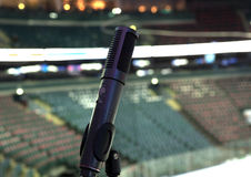 Microphone, TV broadcast hockey Stock Images