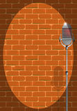 Microphone Under A Spotlight Royalty Free Stock Image