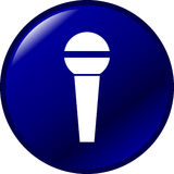 Microphone vector button. Vector button of a microphone Stock Images