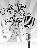 Microphone vector composition. Microphone abstract music vector composition Royalty Free Stock Photo