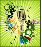 Microphone vector composition. Microphone music vector composition illustration Stock Photos