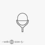 Microphone vector icon Stock Photography