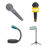 Microphone vector icon isolated interview music TV web broadcasting vocal tool show voice radio broadcast audio live Stock Photography