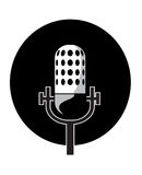 Microphone vector illustration royalty free stock photos