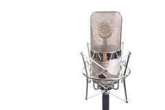 Microphone in vintage style. Shot in high key Royalty Free Stock Photos