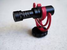 Microphone visuel de condensateur directionnel cardioïde professionnel Plan rapproché photographie stock