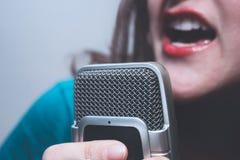 Microphone/voice recorder closeup Stock Image
