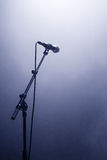 Microphone waiting for a voice Royalty Free Stock Photos
