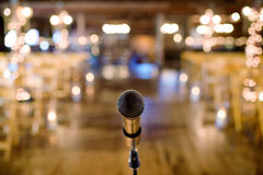 Microphone before wedding ceremony Stock Photo