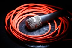 Microphone and whire Stock Image