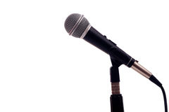 Microphone on White Royalty Free Stock Photography
