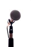 Microphone on White Stock Photos