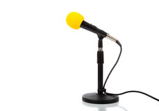 A microphone on a white background Stock Photo