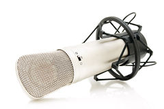 Microphone on white background Royalty Free Stock Image