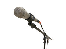 Microphone on a white background Royalty Free Stock Photos
