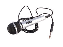 Microphone on a white background Stock Image