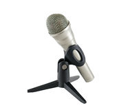 Microphone on a white background Royalty Free Stock Photography